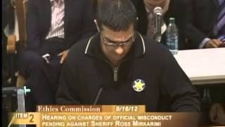 [Undeclared name], Ethics Commission Sheriff Mirkarimi, August 16, 2012 [Item 2, PC-15, PL-1]