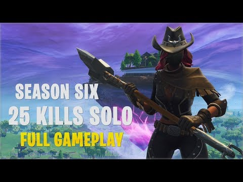 Season 6 - 25 Kills Solo | Console PS4 - Fortnite Gameplay