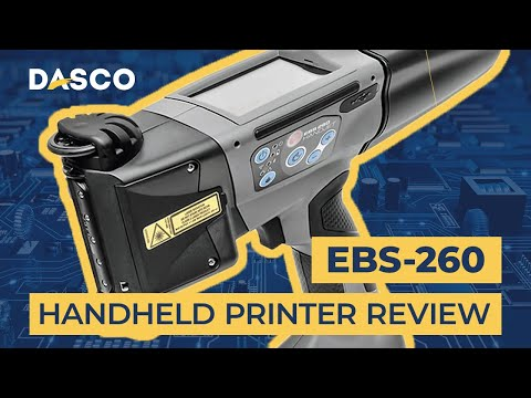 EBS-260 Handjet Portable Inkjet Printer Overview