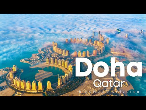 Doha City in Qatar Tour in 4K BlueMoon Universe