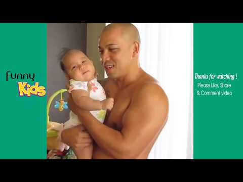 Funny Father Taking Care Of His Baby | Father And Baby Compilation | Funny Baby Videos