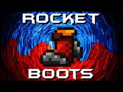 Terraria iOS How To: ROCKET BOOTS!!!