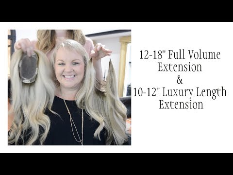 fa299ec359 Alopecia hairloss remy hair topper volume extension Lauren Ashtyn ...