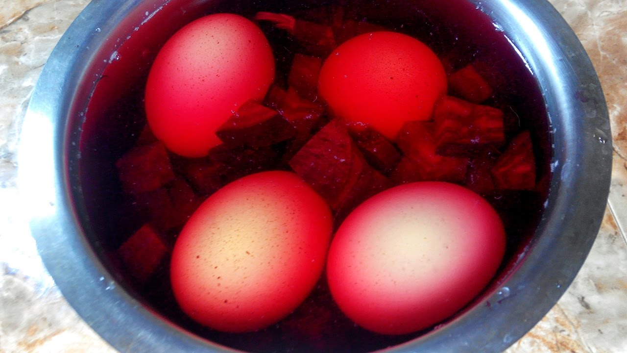 Red Food Coloring For Easter Eggs Dying Easter Eggs With Food ...