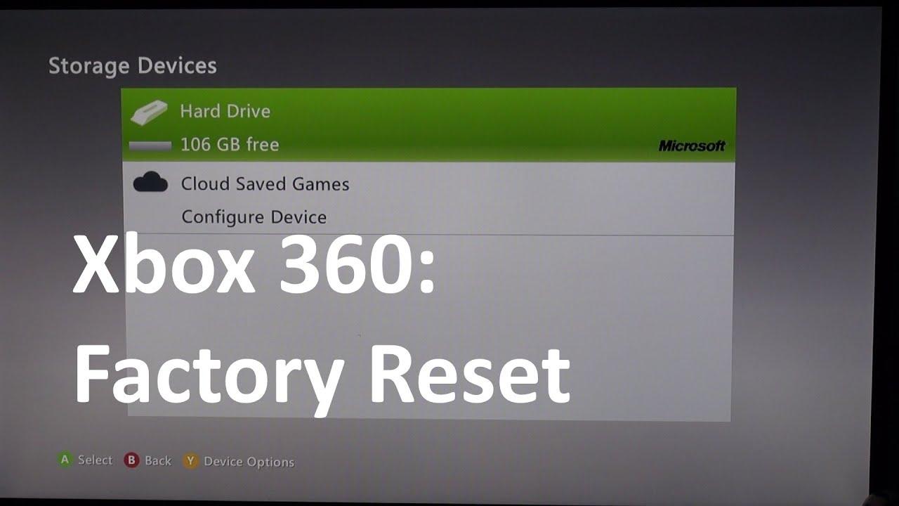 Xbox 360 Zurücksetzen