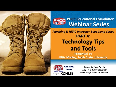 Plumbing & HVAC Instructor Boot Camp Part 4 - Technology Tools and Tips