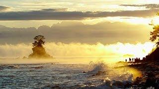 雨晴海岸の気嵐(けあらし) Steam Fog at Amaharashi coast ( Shot on RED EPIC )