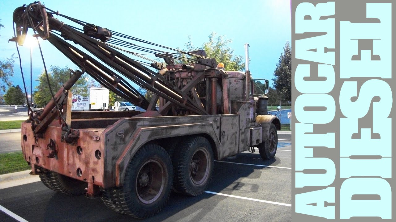 Mad Max old rusty Autocar Diesel Tow Trucks, still functional - YouTube