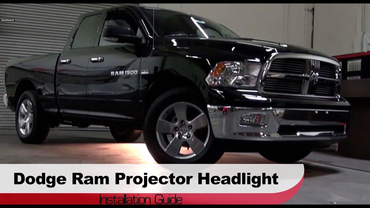 Spyder auto installation 2009 2013 ram 1500 projector headlights youtube