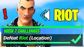 Riot LOCATION & Defeat Riot - Fortnite
