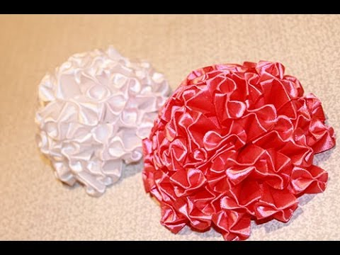 Как сделать цветы своими рукамиИз бумаги, лент, ткани
