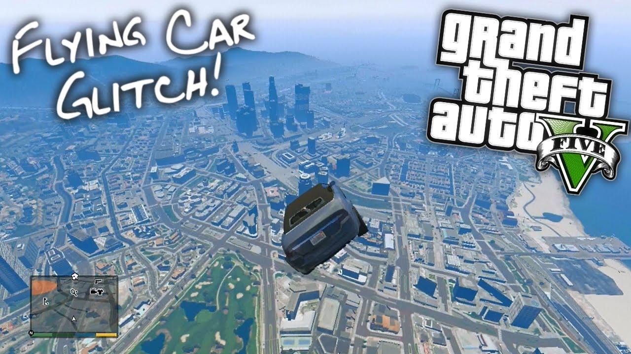 Gta V Flying Car Glitch Youtube