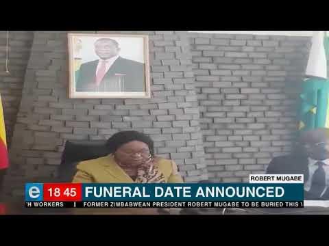 Mugabe's funeral date announced