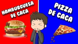 HAMBURGUESA WITH CACA OR PIZZA WITH CACA? Roblox Would You Rather in Spanish