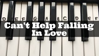 Can't Help Falling In Love | Easy Keyboard Tutorial With Notes (Right Hand)