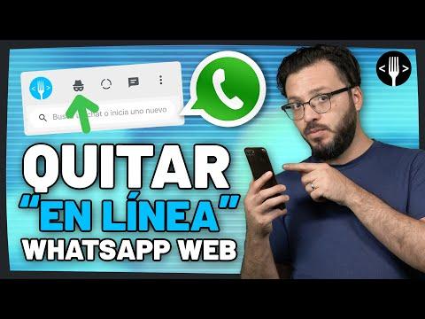 Cómo quitar el En Linea de WhatsApp Web | Servicio de la comunidad