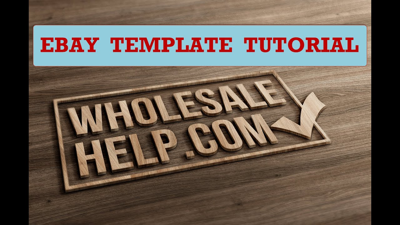EBay HTML Listing Template Tutorial How To Use EBay Templates - Ebay listing template creator