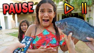 DESAFIO DO PAUSE COM CRIANÇAS! - (ABSURDO)  - KIDS FUN