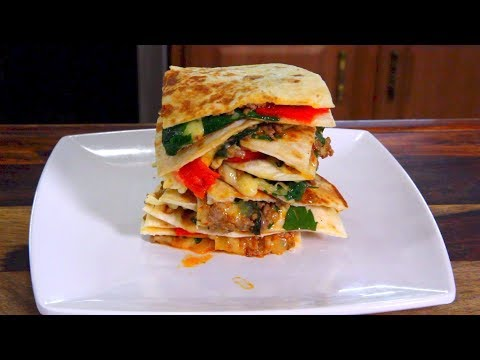 Italian Sausage Quesadillas - FOOTBALL FINGER FOODS