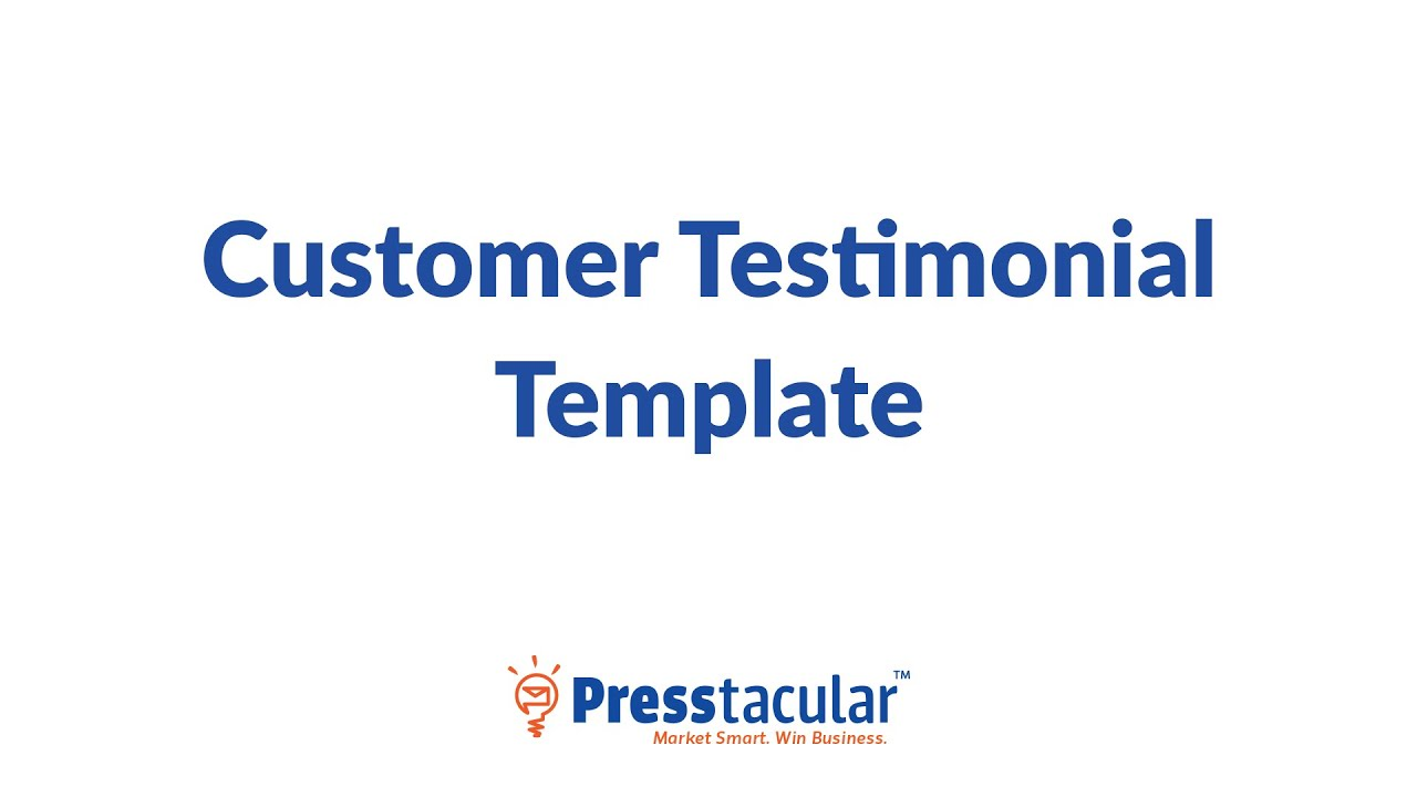 customer testimonial template youtube