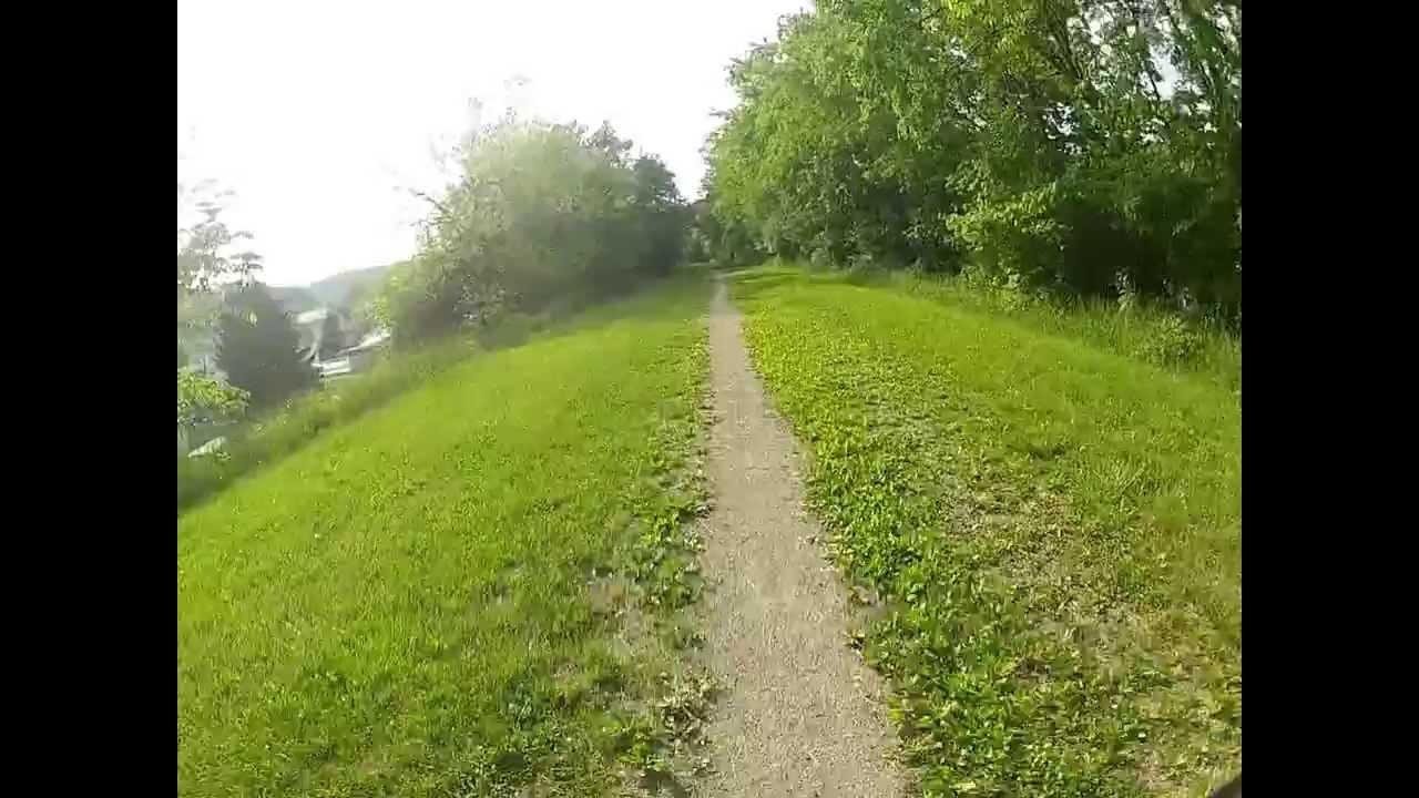 Rolling into pennsboro wv north bend rail trail