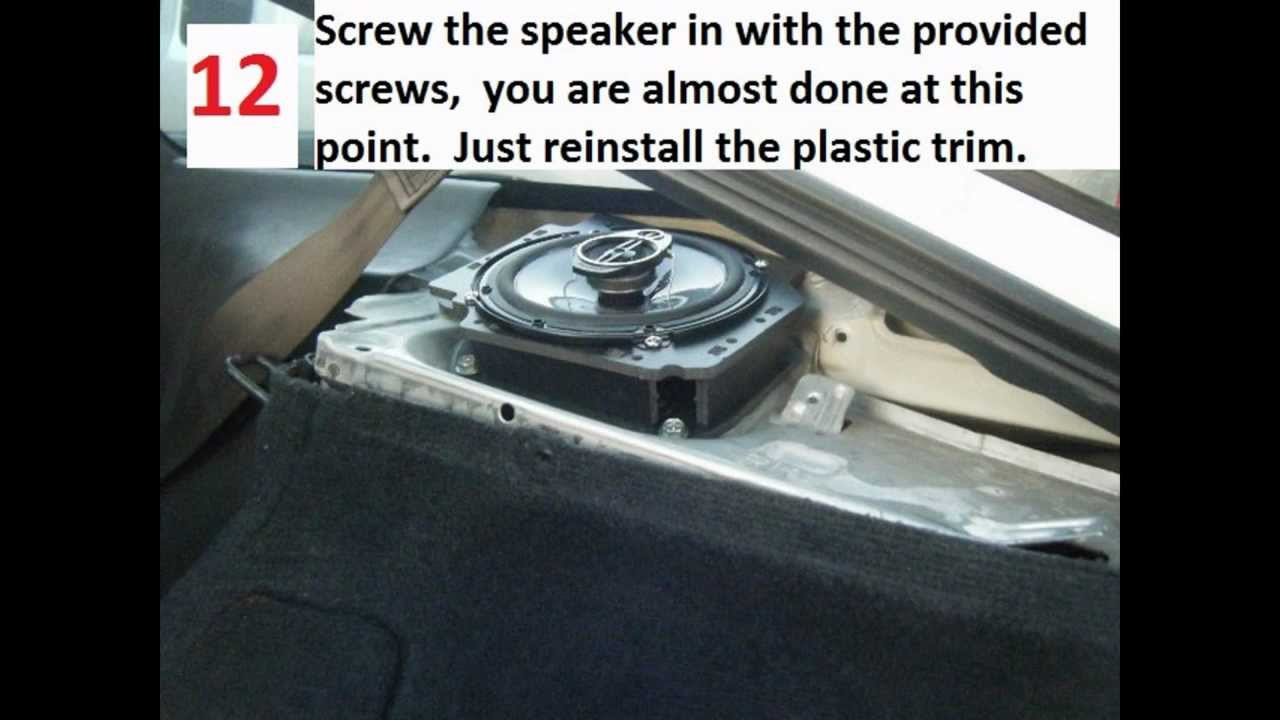 How To Replace Rear Speakers In A Nissan 240sx or 180sx ...