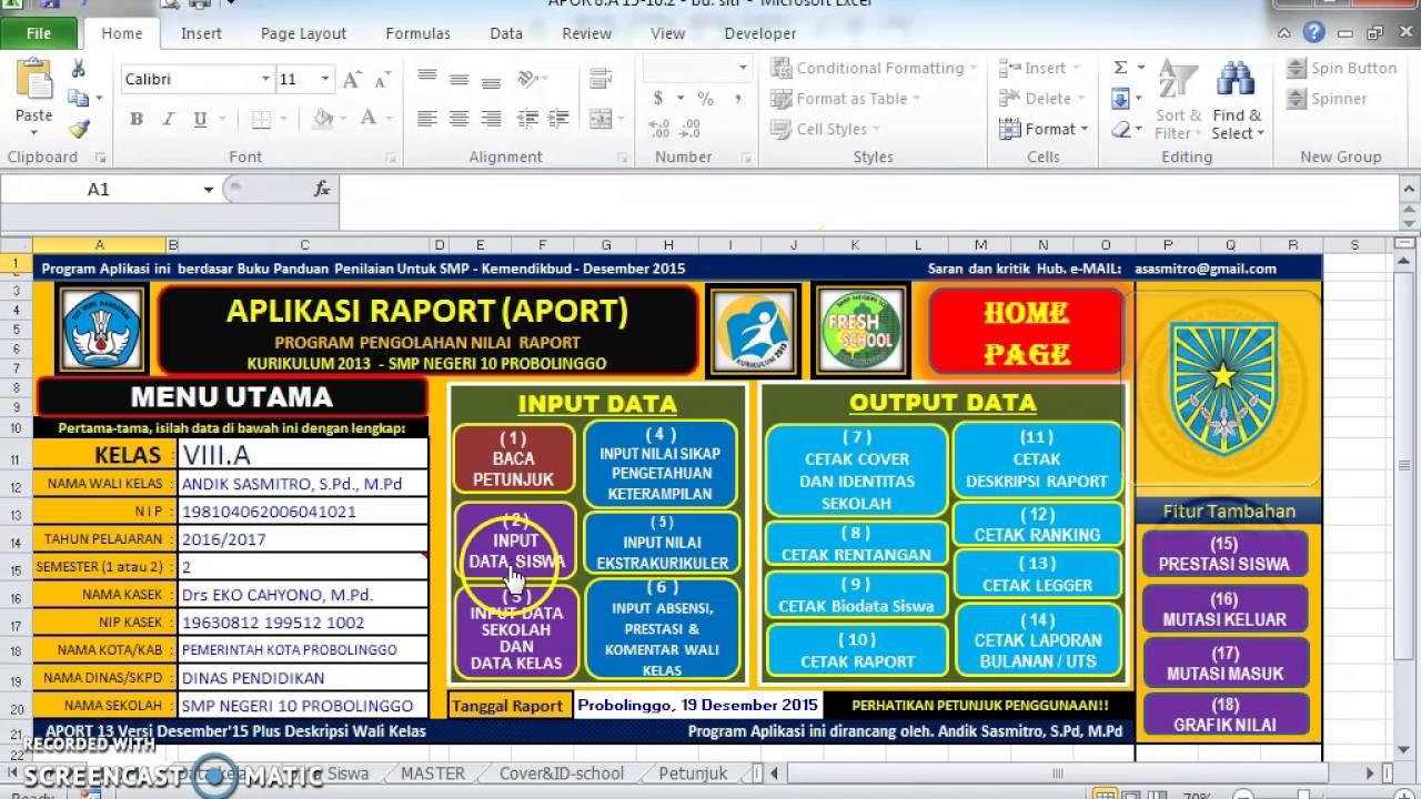 Video tutorial aport 13 aplikasi raport kurikulum 2013 terbaru