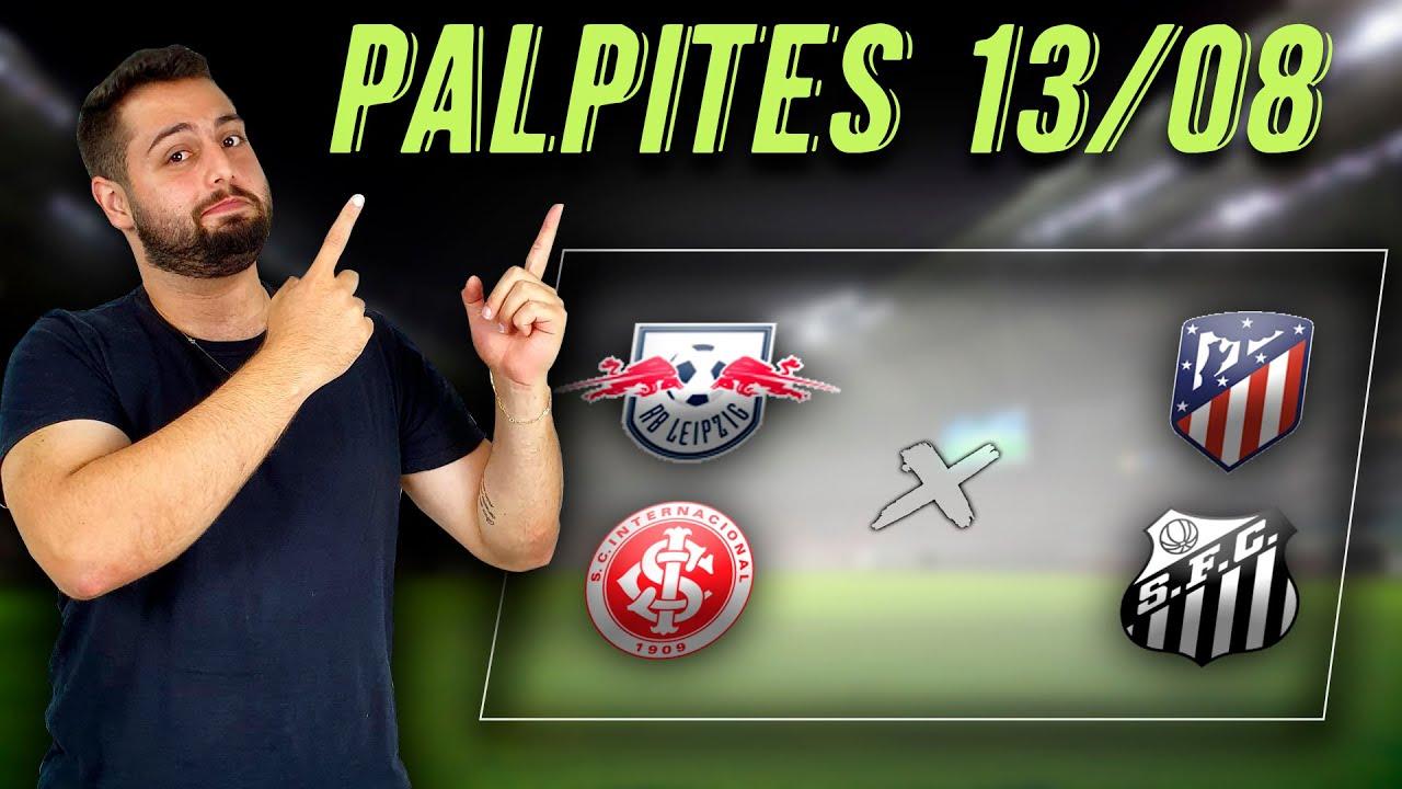 PALPITES DE FUTEBOL PARA HOJE 13/08/2020