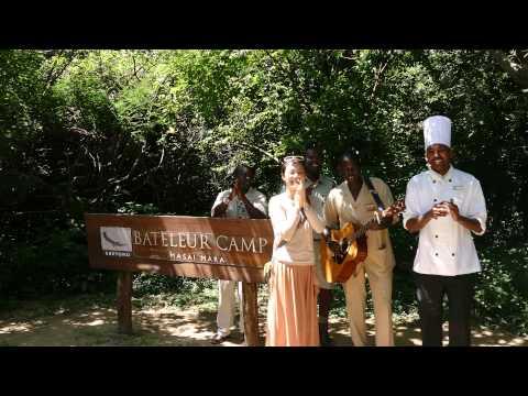 Welcome Party at Bateluer Camp in Masai Mara Kenya