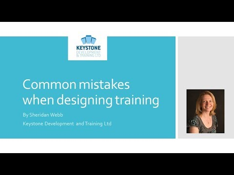 Common mistakes when designing training