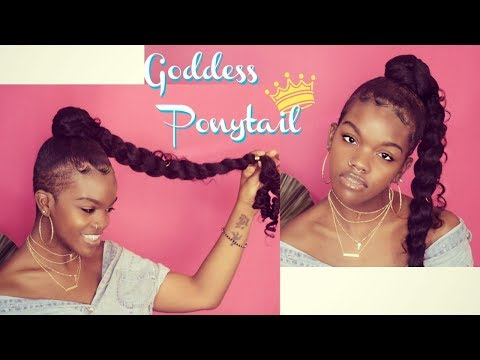 Jumbo braid GODDESS PONYTAIL|crochet|natural hair