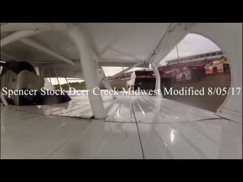 Spencer Stock 28s Midwest Modified Deer Creek Speedway 8/05/17