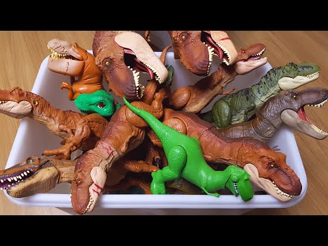 쥬라기월드 티렉스 티라노사우루스 트리케라톱스 슐라이히 공룡메카드 공룡장난감