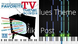 🎹 Hill Street Blues Theme, Mike Post, Synthesia Piano Tutorial