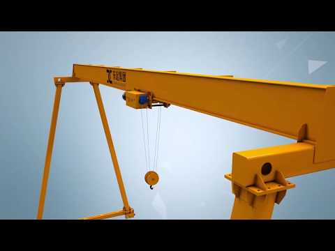 DQ Group Yuantai Long service life electric hoist single girder gantry cranes