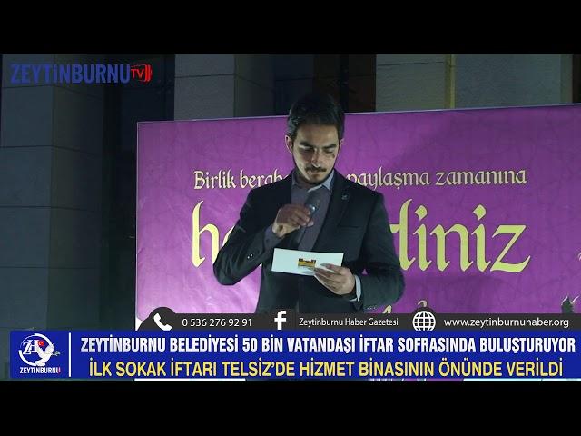 Zeytinburnu'nda ilk sokak iftarı hizmet binasının önünde verildi