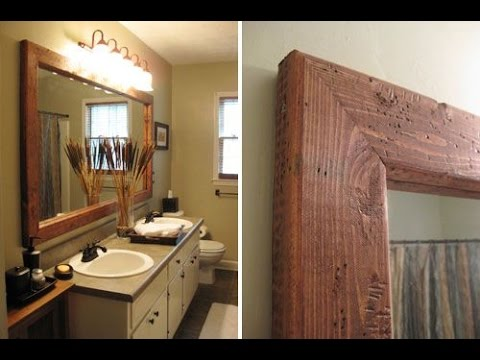 Creative iDeas for Framing A Bathroom Mirror - YouTube