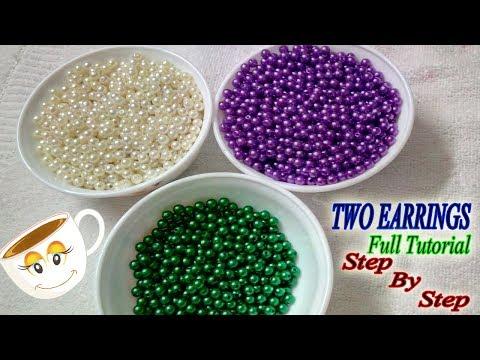 2 easy Pearl Earring Design | DIY | 5 min Craft | Hand made jewelry | DiyArtiePie