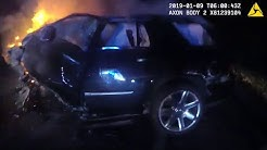 Body Cam of Volusia Deputies & Edgewater PD Rescuing Victim from Burning Vehicle Involved in A Crash