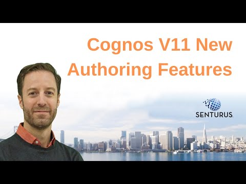 Overview Of Cognos Analytics 11 New Authoring Features