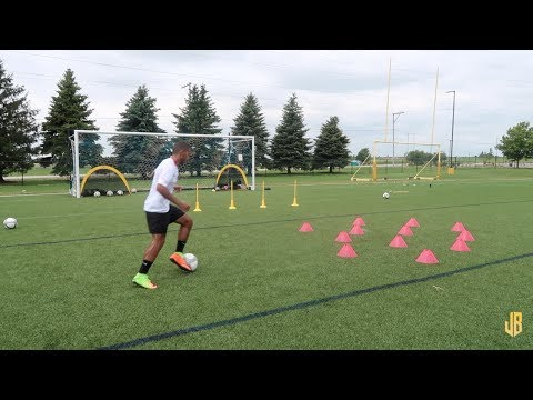 High Intensity Soccer Drills  Training Session With a Subscriber!