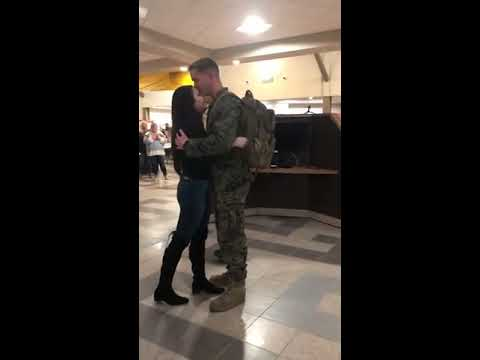 Nancy & Newman - US Marine Proposed When He Came Home