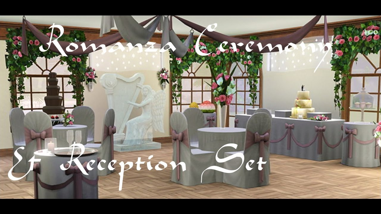 Sims 3 Romanza Ceremony Reception Store Set Review Youtube