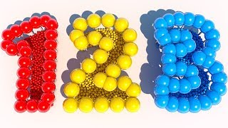 Learning Numbers and Colors with Lollipops for Children