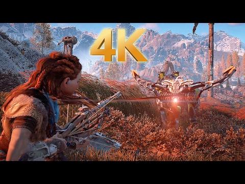Horizon Zero Dawn - PS4 Pro Gameplay in 4K @ 2160p HD ✔