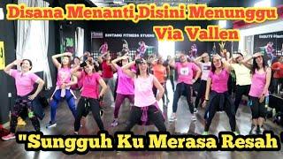 Gambar cover Disana Menanti Disini Menunggu (Sungguh Ku Merasa Resah ) By Via Vallen / Dangdut ,TikTok Viral
