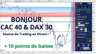 #DAX30 CFD - Séance de Trading en Direct - Bonjour CAC40 & DAX30 le 17/01