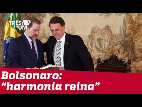 Bolsonaro fala em harmonia entre Poderes após reunião com Toffoli