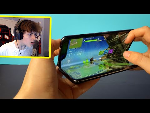I Played With The Most EXPENSIVE PHONE In Fortnite Mobile...