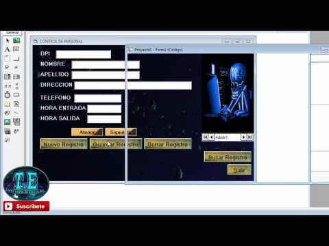programar los botones nuevo, guardar, eliminar, cancelar registros en visual basic 6 0
